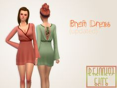 Breit Dress (updated) BGC | 20 Swatches | All LODs | Custom Thumbnail | Recolor Allowed - Do Not Include Mesh DOWNLOAD