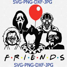 Friends horror movie creepy halloween horror friends team SVG Files For Silhouette, Files For Cricut Table Halloween, Creepy Halloween, Halloween Signs, Halloween Horror, Diy Halloween Shirts, Halloween Clipart, Halloween Halloween, Vintage Halloween, Halloween Makeup