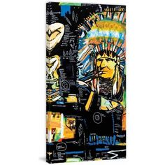 Marmont Hill Calumet 2 inch Print on Canvas, Size: 30 inch x 60 inch, Multicolor