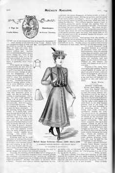 Walking dress for a young lady, McCall's Magazine, August 1899.