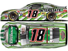 The Interstate Batteries striped scheme returns in 2015, will be the primary sponsor at 6 races  for Kyle Busch