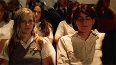 "Kirsten Dunst & Josh Hartnett, ""The Virgin Suicides"" (Sofia Coppola, 90s Movies, Movie Tv, Lucky Smith, Pretty Movie, Love Captions, Josh Hartnett, Biological Mother, The Virgin Suicides, Blue Is The Warmest Colour"