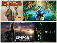 Here Full #rating of these weekend movies -  1. #Rio2 - ✭ ✭ ✭ ✩ ✩ 2. #BhoothnathReturns - ✭ ✭ ✭ ✩ ✩ 3. #Divergent - ✭ ✭ ✭ ✩ ✩ 4. #Oculus - ✭ ✭ ✭ ✩ ✩