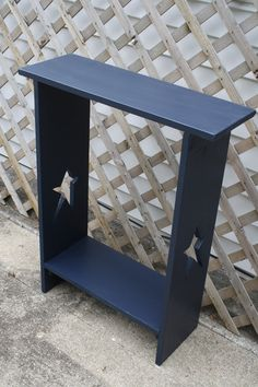 Primitive STAR Navy Side End Hall Table With by UniquePrimtiques, $75.00