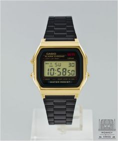 8d52719a691 Casio Rare Onyx Digital Watch PVD Black and Gold G Shock Watches