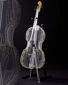 Glass instruments  Step aside Cinderella, your glass shoes are so passe compared to the new glass violin, harp, cello and flute from Hario Glass Corporation in Japan. Absolutely elegant and beautiful.