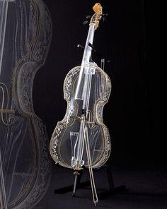 Glass cello -   Hario Glass Corporation in Japan.
