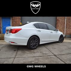 #Acura #RLX with Set of 4 #Wheels #black with laser mill flow #rims