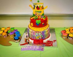 Crayola Birthday cake