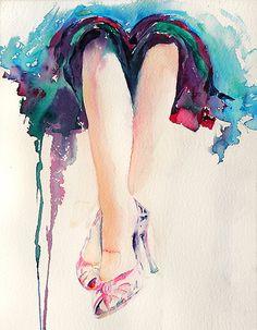 ..draped in watercolor