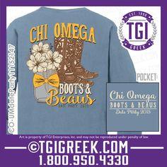 TGI Greek - Chi Omega - Date Party - Greek T-shirt #tgigreek #chiomega