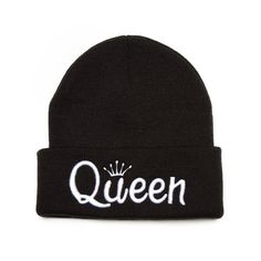 Trendy Fashion QUEEN Embroidered Beanie Hat by theBeanieBliss