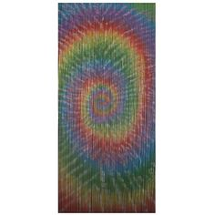 Spiral is a 90 x beaded door curtain featuring a dynamic multi-coloured spiral, the vibrant tones swirling like a cascading rainbow of colour. Beaded Curtains Doorway, Bamboo Curtains, Reiki Room, Bedroom Doors, Spiral, Vibrant, Rainbow, Wall Art, Artwork
