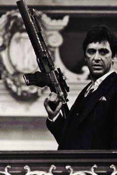 """Al Pacino as Tony Montana in """"Scarface""""."""