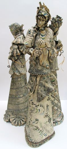 Teresa Brooks - The Fates Ceramic Clay, Ceramic Pottery, Pottery Art, Ceramic Figures, Clay Figures, Clay People, Ceramics Projects, Clay Creations, Clay Art
