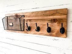 Great way to organize a small space! Entryway Coat Hooks, Entryway Wall, Small Entryway Decor, Diy Coat Hooks, Small Entryways, Entryway Organization, Coat Hanger, Cool Walls, Ikea