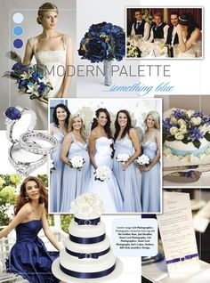 Blue #wedding inspiration from Modern Wedding