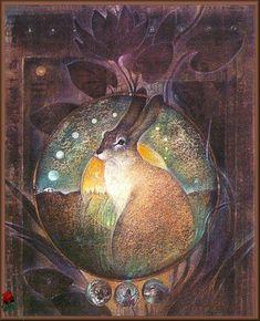Lunar hare Susan Seddon Boulet