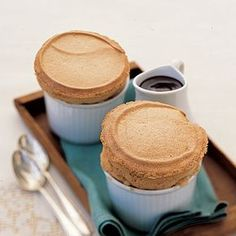 Soufflé for Two just whipped this up on a whim since we had all the ingredients- cappuccino soufflé for two- so easy & delicious! :)just whipped this up on a whim since we had all the ingredients- cappuccino soufflé for two- so easy & delicious! Just Desserts, Delicious Desserts, Yummy Food, Delicious Chocolate, Dessert Crepes, French Dessert Recipes, Souffle Recipes, Dessert For Two, Le Diner