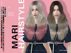 Curly Hair With Bangs, Hairstyles With Bangs, Curly Hair Styles, Female Hairstyles, Download Hair, The Sims 4 Download, Maxis, The Sims 4 Cabelos, V Cute