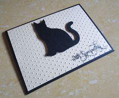Cat Sympathy Card Pet Sympathy Card Loss of by DreamsByTheRiver