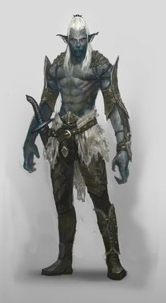 Drow elf Give him short maroon or red hair and He'd almost be Ru