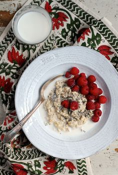 Creamy Overnight Oats with Raspberries // Brooklyn Supper for Babble Food #sponsored