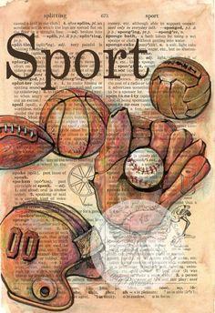 Dictionary Art - Sport
