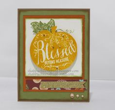CTMH Close to My Heart Thanksgiving Fall Themed card