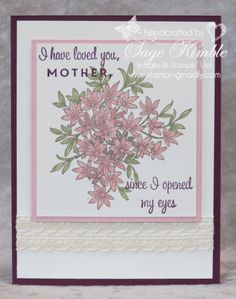 Handmade Mother's Day Card from Stamping Madly using First Sight and Awesomely Artistic stamp sets from Stampin' Up!