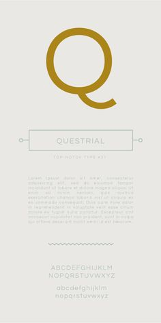 Top-notch type: Questrial by Admix Designs #free #webfont