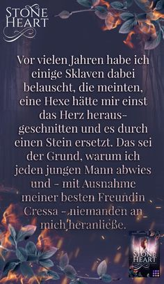 "Zitat aus dem Romantasy-Buch ""Stoneheart: Geraubte Flamme"" #asukalionera #stoneheart #romantasy #romance #gestaltwandler Fantasy, Movies, Movie Posters, Author, Romance Books, Quote, Book, Films, Film Poster"