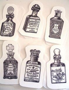Perfume Bottle Sachets