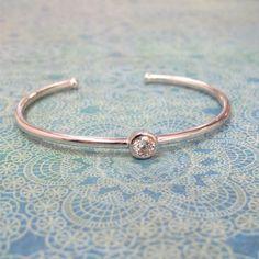 Bezel Set Diamond Cuff Bracelet