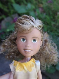 One-of-a-kind, repainted, restyled, second-hand, up-cycled doll by TreeChangeDolls