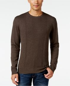Alfani Men's Regular Fit Texture Sweater, Only at Macy's - Sweaters - Men - Macy's