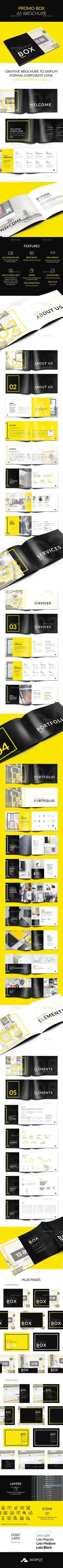 Promo BOX A5 Brochure Template PSD. Download here: https://graphicriver.net/item/promo-box-a5-brochure/16936313?ref=ksioks