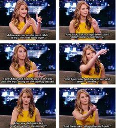 Jennifer Lawrence fangirling,... LOL THATD   B ME...