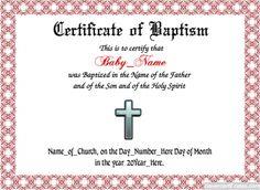 printable fillable certificate of baptism printable baptism