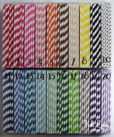 100+CHOOSE+YOUR+COLORS++Striped+Paper+por+INKLINEdesignstudio,+$15,50
