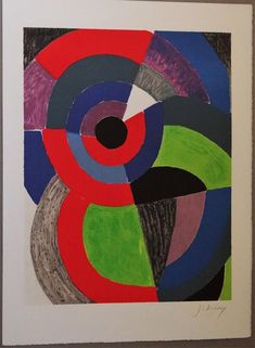 overlapping in an artwork Sonia Delaunay, Embossed Seal, Moving To Paris, Cool Artwork, Amazing Artwork, French Artists, Op Art, Geometric Shapes, Modern Art