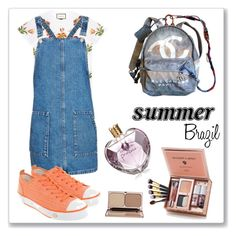 """""""Summer Brazil"""" by anabritt on Polyvore featuring moda, Chanel, Gucci, Topshop, UGG e Vera Wang"""