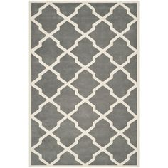 Safavieh Handmade Moroccan Chatham Dark Grey/ Ivory Wool Rug (8'9 x 12') - Overstock™ Shopping - Great Deals on Safavieh 7x9 - 10x14 Rugs