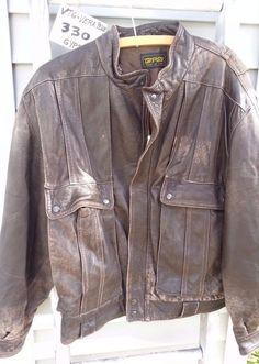 Men's Leather Jacket M (38-40)_Motorcycle _Peruzzi Vera Pelle_Gypsy_Lamb_sheep #PeruzziVeraPelle #FlightBomber