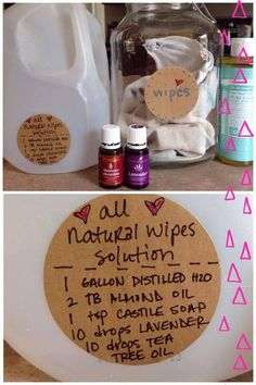 DIY all natural wipe solution