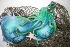Silicone Octopus mermaid bra by TFArtistry on Etsy