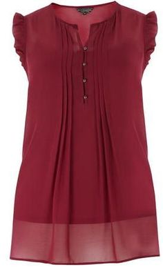 Plus Size Frill Sleeve Top