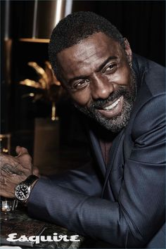 """Idris Elba covers the August 2017 issue of Esquire magazine photographed by Victor Demarchelier. When Elba found out he'd be playing """"The Wire'""""s St Idris Elba, Black Is Beautiful, Gorgeous Men, Actor Idris, Victor Demarchelier, Dolce And Gabbana Suits, Atlanta, Grunge, Star Wars"""