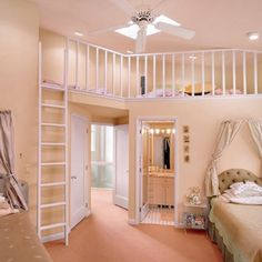 put that in paris theme and the bed at the top I would love this room