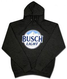 Busch Bottle Opener Round Logo Beer Pouch Hoodie